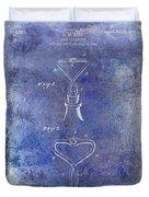 1909 Cork Extractor Patent Blue Duvet Cover