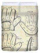 1910 Baseball Glove Patent  Duvet Cover