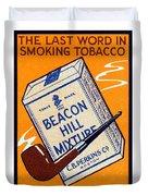 1910 Beacon Hill Pipe Tobacco Duvet Cover