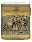 1910 Toy Circus Patent Duvet Cover