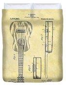 1911 Guitar Patent Duvet Cover