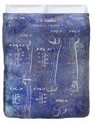 1911 Mechanical Skeleton Patent 1 Blue Duvet Cover