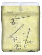1913 Wrench Patent Duvet Cover