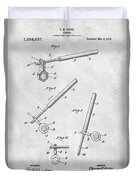 1913 Wrench Patent Illustration Duvet Cover