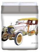 1914 Rolls Royce Silver Ghost Duvet Cover