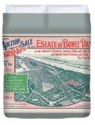 1915 Bronx Lots Sale Flyer Duvet Cover