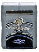 1915 Chevrolet Touring Hood Ornament 2 Duvet Cover
