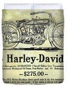 1915 Harley Davidson Advertisement Duvet Cover
