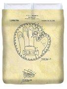 1916 Baseball Glove Patent Duvet Cover