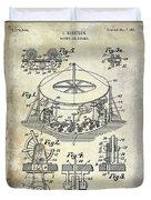 1916 Merry Go Round Patent Duvet Cover