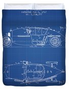 1917 Racing Vehicle Patent - Blueprint Duvet Cover