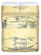 1917 Racing Vehicle Patent - Vintage Duvet Cover