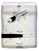 1920 Baseball Bat Patent Duvet Cover