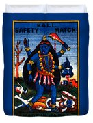 1920 Hindu Goddess Kali Duvet Cover