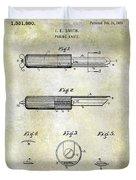 1920 Paring Knife Patent Duvet Cover