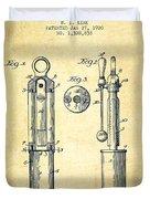 1920 Tuning Fork Patent - Vintage Duvet Cover