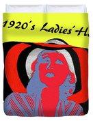 1920s Ladies Hat Duvet Cover