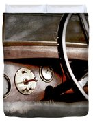 1921 Bentley Steering Wheel -0454ac Duvet Cover