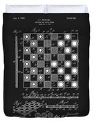 1923 Checkers And Chess Board Duvet Cover