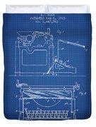 1923 Typewriter Screen Patent - Blueprint Duvet Cover