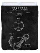 1924 Baseball Patent Illustration Duvet Cover