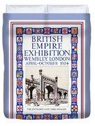 1924 British Empire Exhibition Wembley Duvet Cover