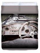 1925 Aston Martin 16 Valve Twin Cam Grand Prix Steering Wheel -0790ac Duvet Cover