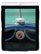 1925 Cadillac Hood Ornament And Emblem Duvet Cover
