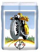 1925 Fn Motorcycles Advertising Poster Duvet Cover