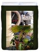 1926 Model T And Plants Duvet Cover