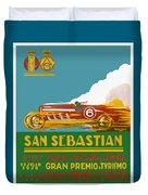 1926 San Sebastian Grand Prix Racing Poster Duvet Cover