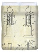 1926 Toy Filling Station Patent Duvet Cover