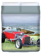 1927 Ford T Bucket Roadster 'on The Greens' Duvet Cover