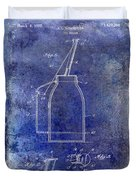 1927 Oil Can Patent Blue Duvet Cover