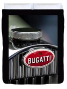1928 Bugatti Hood Emblem Duvet Cover