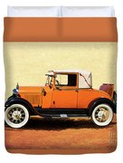 1928 Classic Ford Model A Roadster Duvet Cover