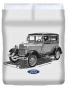 Model A Ford 2 Door Sedan Duvet Cover