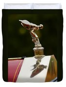 1928 Rolls-royce Phantom 1 Hood Ornament Duvet Cover