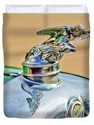 1928 Studebaker Hood Ornament Duvet Cover