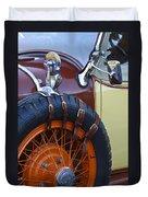 1928 Studebaker President Roadster Spare Tire Duvet Cover