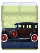 Historical Ford 4 Door Sedan Duvet Cover
