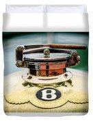1929 Bentley 4.5-litre Open Tourer Hood Ornament Duvet Cover