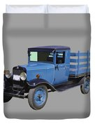 1929 Blue Chevy Truck 1 Ton Stake Body Duvet Cover