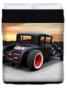 1929 Ford 'rock N Roll' Coupe Duvet Cover