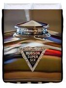 1929 Hudson Cabriolet Hood Ornament Duvet Cover