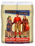 1929 Notre Dame Versus Southerncal Duvet Cover