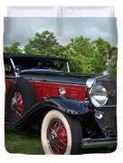 1930 Cadillac V16 Allweather Phaeton Duvet Cover by Tim McCullough