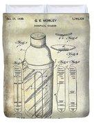 1930 Cocktail Shaker Patent Duvet Cover