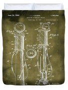 1930 Gas Pump Patent In Grunge Duvet Cover