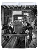 1930 Model T Ford Monochrome Duvet Cover